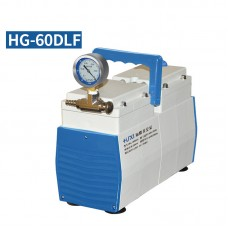 Oil-Free Lab Diaphragm Vacuum Pump HG-60DLF 60L/min 200mbar Anticorrosive Positive Negative Pressure