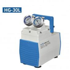 Oil-Free Lab Diaphragm Vacuum Pump HG-30L 30L/min 150mbar Normal Type Dual Pressure Gauges