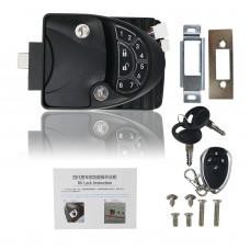 Keyless RV Entry Door Lock Latch Handle Knob Deadbolt For Camper Trailer Black