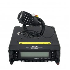 TYT TH-9800 Mobile Radio Quad Band 50W Car Transceiver Walkie Talkie Dual Display Repeater Scrambler w/ USB Cable