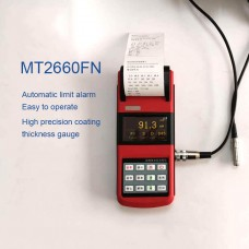 """WONTEST MT2600 Portable Paint Coating Thickness Gauge High-Precision 2.7"""" OLED Screen w/ One Probe"""