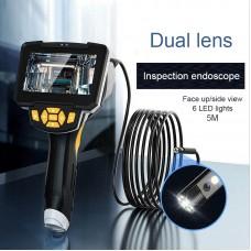 "Inskam112-2 5M 8mm Industrial Endoscope Camera Borescope 1080P Dual Waterproof Lens 4.3"" Color LCD"