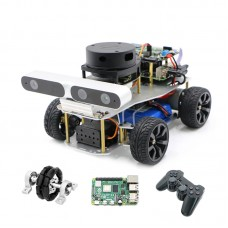 ROS Smart Car Robotic Car Ackerman/Differential + Control For Raspberry Pi 4B + Controller For PS2