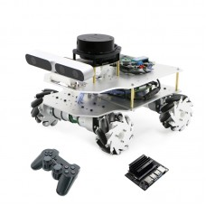 ROS Smart Car Robotic Car Mecanum Wheel Version + Control For Jetson Nano B01 + Controller For PS2