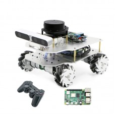 ROS Smart Car Robotic Car Mecanum Wheel Version + Control For Raspberry Pi 4B + Controller For PS2