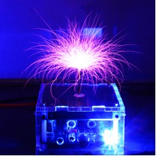 Mini Tesla Coil Music SSTC Assembled High Voltage Discharge Device Toy For Music Enthusiasts