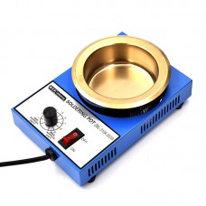 DBL-310A 300W Lead-Free Soldering Pot Small Round Solder Pot Titanium Plating Tin Furnace 100mm/3.9""