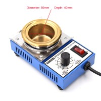 DBL-350A 150W Lead-Free Soldering Pot Small Round Solder Pot Titanium Plating Tin Furnace 50mm/2""