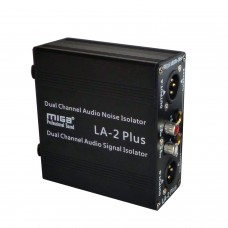 LA-2Plus Audio Noise Isolator Audio Signal Isolator Eliminate PC Audio Conference Mic Noise Hum