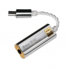 DC03 DAC Headphone Amplifier Type-C To 3.5MM Mobile Phone Headphone Cable External Sound Card Silver