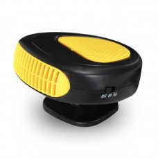 12V 150W Car Air Heater Small Car Heater Defroster 360 Degree Rotation Heating Cooling Fan Yellow
