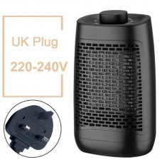 YND-1200 Electric Air Heater 1200W Household Bathroom Mini Space Heater Knob Control UK Plug