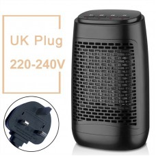 YND-1200S Electric Air Heater 1200W Household Bathroom Mini Space Heater Buttons Control UK Plug