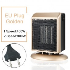 YND-900 Mini Space Heater 900W Electric Heater Fan Office Bathroom PTC Ceramic Heater EU Plug Golden