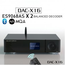 X16 Balanced DAC Bluetooth 5.0 DAC ES9068ASx2 MQA Full Decoding For IIS AES Coaxial Optical Black