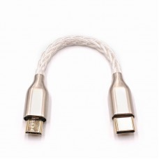 "10cm/3.9"" Portable DAC Headphone Amplifier OTG Cable Audio Cable For Type-C To Micro"