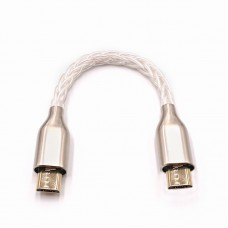 "10cm/3.9"" Portable DAC Headphone Amplifier OTG Cable Audio Cable For Micro To Micro"
