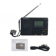 Retekess V-115 Radio FM/AM/SW Multiband Radio Receiver REC Recorder MP3 Player with Sleep Timer