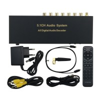 RH-688X 5.1CH Audio Decoder Bluetooth 5.0 Digital Audio System HDMI Optical Fiber Coaxial Sound Card