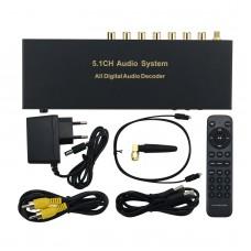 RH-688X 5.1CH Audio Decoder Bluetooth 5.0 Digital Audio System HDMI Optical Fiber Coaxial Sound Card