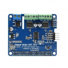Robot Expansion Board V2 Stepper Motor HAT Fit Stepper Motor/Motor/Servo For Raspberry Pi 4B 3B+
