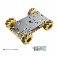 Unassembled Mecanum Wheel Car Smart Robot Car Chassis w/ Motors + Bluetooth Module For Arduino