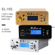 EL-15S FM Broadcast Transmitter Timing Wireless Broadcasting System Play Music 1.5W For U Disk MP3