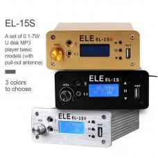 EL-15S FM Broadcast Transmitter Timing Wireless Broadcasting 0.1-7W w/ Antenna For U Disk MP3