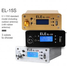 EL-15S FM Broadcast Transmitter Timing Wireless Broadcasting 0.1-15W w/ Antenna For U Disk MP3