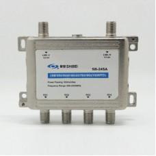 Seebest SB-24SA Satellite Signal Splitter Satellite Splitter 2 Input 4 Output 13V/18V TV Video Audio