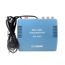 SON-168AV AV To RF Converter 6-12CH AV Switch RF Modulator Set-Top Box Modulator AV To Old TV