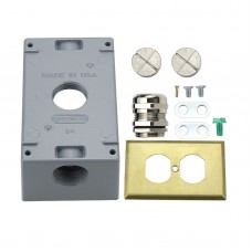 US Plug COOPER Audio Socket Bottom Box Pure Copper Panel Watt Socket Power Box for Furukawa