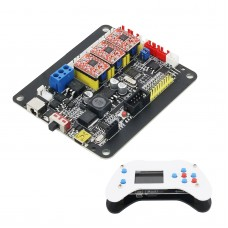 CNC 3 Axis Control Board Version 4.0 + 1.8 Inch Offline Controller Screen for GRBL Engraving Machine