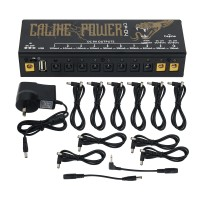 Caline CP-04 Guitar Pedal Power Supply 10 Channels Isolated Output Power Tuner Guitar Effect Power