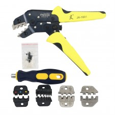 PARON 5 In 1 Wire Crimpers Engineering Ratchet Terminal Crimping Pliers Wire Striping Tool JX-D5S