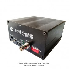CG-001-AT Frequency Divider Clock Divider w/ 10MHZ OCXO AT Function 8CH Output Accurate Clock Signals
