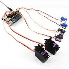 16CH Servo Driver HAT Board PWM Driver Module I2C Port For Jetson Nano Raspberry Pi 4B/3B+/Zero W