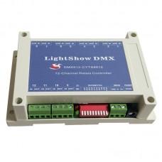 LightShow DMX 12-Channel Relay Switch Controller DC 5V DMX512 Suitable For KTV Bars Entertainment