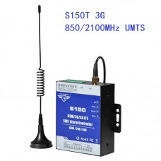 8-Channel SMS Alarm Controller SMS Relay Switch 8DIN 2DO USB S150 3G Version 850/2100MHz UMTS