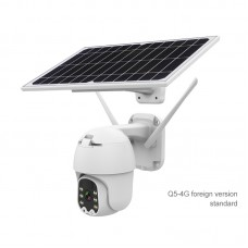 Outdoor Dome Camera PTZ Security Camera 2MP Solar Camera Wireless Security Camera IP66 Q5-4G Version