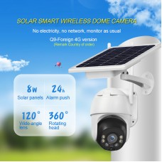 2MP Wireless Solar Camera Outdoor Dome Camera HD PTZ Security Camera Waterproof Q9-4G Version