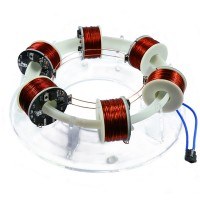 Ring Accelerator 6-Coil Version Unassembled Magnet Scientific Experiment Creative High-Tech Toy Kit