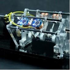 4-Coil Version Motor Model V-Shaped Electromagnet Motor Teaching Aid Toy High Speed 5V Manual DIY