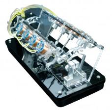 8-Coil Version Motor Model V-Shaped Electromagnet Motor Teaching Aid Toy High Speed 5V Manual DIY