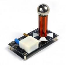Mini SGTC Spark Gap Tesla Coil Magnetic Storm Coil Artificial Lightning Experimental High-Tech Toy