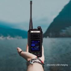 VR-N75 Splashproof Walkie Talkie Two Way Radio GPS Display Position w/ USB Battery For Travel Rescue