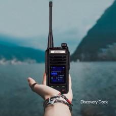 VR-N75 Splashproof Walkie Talkie Two Way Radio GPS Display Position Normal Battery Desktop Charger