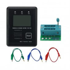 Graphic M8 Transistor Tester Diode Inductance Capacitance ESR Voltage Frequency Meter with Case