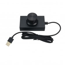 PC Volume Control USB Volume Control Knob Speaker Knob Switch Lossless Sound Quality (Top LED)