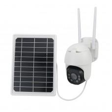 2MP Wireless Solar Camera Outdoor Dome Camera HD PTZ Security Camera Waterproof Q9-WIFI Version